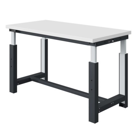 SalesBridges Electrically height-adjustable worktable SI-model gray anthracite 300 kg heavy duty
