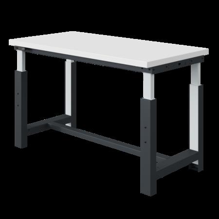 SalesBridges Table de travail à réglage électriquement modèle SI gris anthracite 300 kg heavy duty