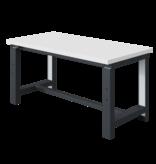 SalesBridges Elektrisch in hoogte verstelbare werktafel SI-model grijs antraciet  300 kg heavy duty