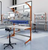 SalesBridges Ergonomic worktable ECOLOG model 150 kg Industrial blue