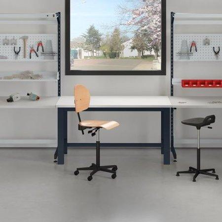 SalesBridges Table de travail Ergonomique 250 kg modèle TPL Bleu industrie