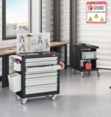 SalesBridges Workshop Trolley SERVILOG with drawers Industrial blue