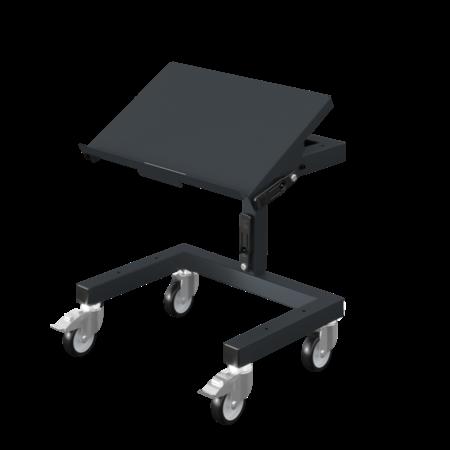 SalesBridges Chariot d'atelier SRI 2 Chariot de rangement réglable pour bacs en plastique