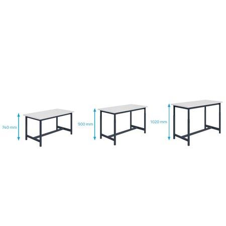 SalesBridges Ergonomische werktafel PTH-model in hoogte verstelbaar 300 kg Antraciet
