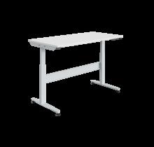 Ergonomic worktable Electrically adjustable REGULOG-model 140 kg Light gray