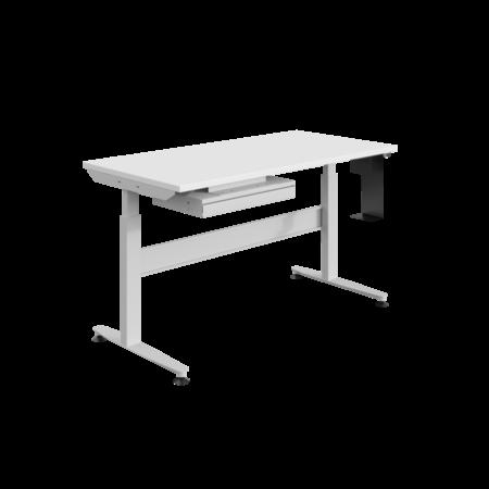SalesBridges Ergonomic worktable Electrically adjustable REGULOG-model 140 kg Light gray