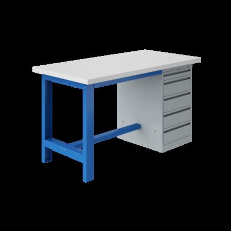 SalesBridges Ergonomische werktafel SI-model industrieel blauw 1500Kg Heavy Duty