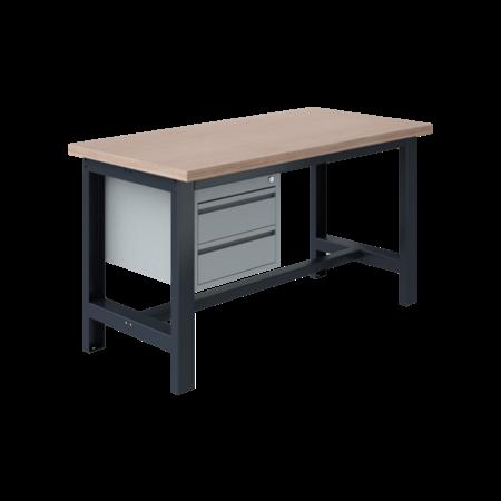 SalesBridges Ergonomic worktable SI-model gray anthracite 1500 kg heavy duty
