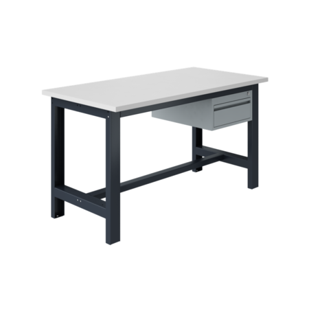 SalesBridges Ergonomische werktafel SI-model grijs antraciet  1500 kg heavy duty