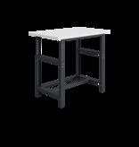 SalesBridges Mechanically height-adjustable worktable SI-model gray anthracite 1000 kg heavy duty