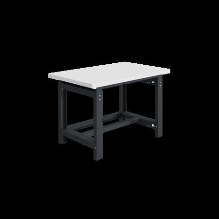 SalesBridges Mechanisch in hoogte verstelbare werktafel SI-model grijs antraciet  1000 kg heavy duty