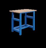 SalesBridges Table de travail à réglage mécanique modèle SI bleu industriel 1000 kg heavy duty