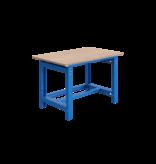 SalesBridges Mechanically height-adjustable worktable SI-model industrial blue 1000 kg heavy duty