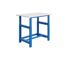 Mechanisch in hoogte verstelbare werktafel SI-model industrieel blauw  1000 kg heavy duty