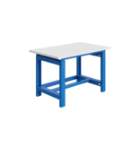 SalesBridges Mechanisch in hoogte verstelbare werktafel SI-model industrieel blauw  1000 kg heavy duty