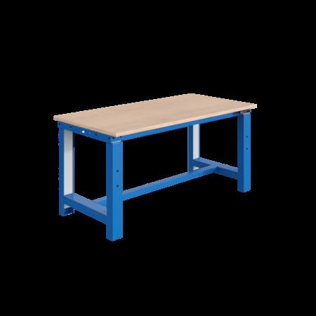 SalesBridges Elektrisch in hoogte verstelbare werktafel SI-model grijs industrieel blauw  300 kg heavy duty - Copy