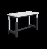 SalesBridges Electrically height-adjustable worktable SI-model industrial blue 300 kg heavy duty - Copy