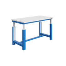 Electrically adjustable worktable 300 kg Industrial blue SI-model
