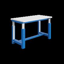Table de travail à réglage électrique 300 kg Bleu industriel modèle SI