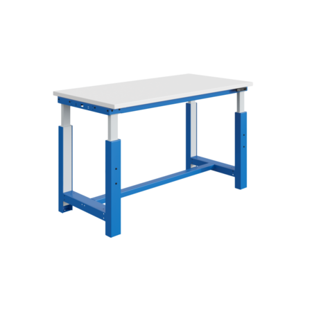 SalesBridges Table de travail à réglage électriquement modèle SI bleu industriel 300 kg heavy duty - Copy