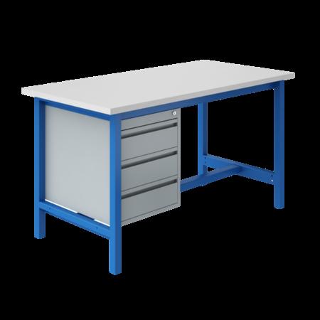 SalesBridges Ergonomische werktafel PTH-model 500 kg Industrieel Blauw