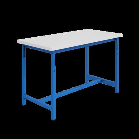 SalesBridges Table de travail Ergonomique modèle PTH 300 kg Bleu réglables en hauteur mécaniquement