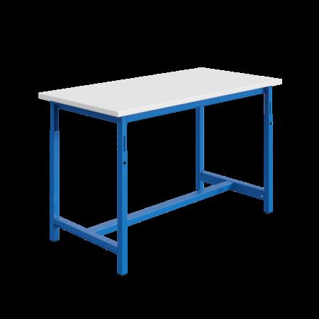 SalesBridges Ergonomische werktafel PTH-model in hoogte verstelbaar 300 kg Blauw