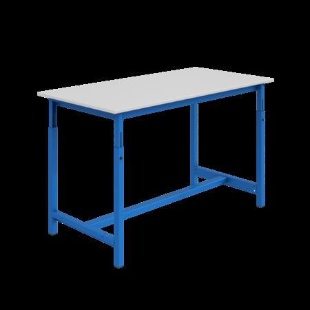 SalesBridges Ergonomic worktable PTH-model adjustable in height 300 kg Blue