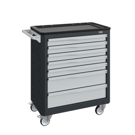 SalesBridges Chariot d'atelier SERVILOG avec tiroirs Bleu industriel