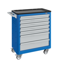 Workshop Trolley SERVILOG with drawers Industrial blue