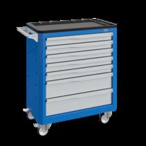 Workshop Trolley SERVILOG with drawers Industrial blue