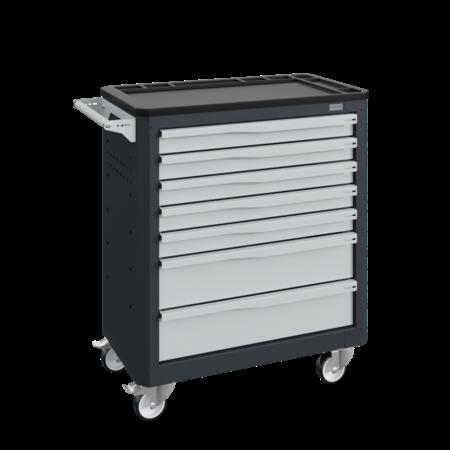SalesBridges Workshop Trolley SERVILOG with drawers Gray Anthracite