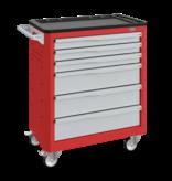SalesBridges Werkplaatswagen Trolley SERVILOG met laden Rood