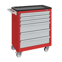 Workshop Trolley SERVILOG with drawers Red