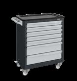 SalesBridges Workshop Trolley SERVILOG with drawers Red