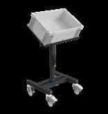 SalesBridges Werkplaatswagen Trolley SRI Magazijnwagen voor kunststof kratten verstelbaar