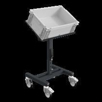 Werkplaatswagen Trolley SRI Magazijnwagen voor kunststof kratten verstelbaar