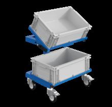 Werkplaatswagen Trolley SRI 2 Magazijnwagen voor kunststof kratten verstelbaar