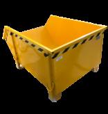 SalesBridges Construction container Blue Debris Container Waste container for Construction 1000L 1500 kg