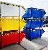SalesBridges Bouwcontainer Puincontainer Rood Bouwafval Afvalcontainer Bouw 1000L 1500 kg