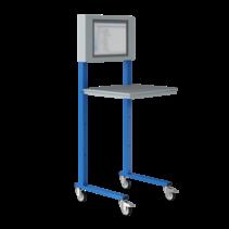 Open computerstand Industrial blue