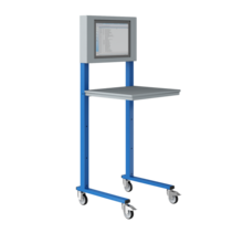 Open computerstand Industrieel blauw