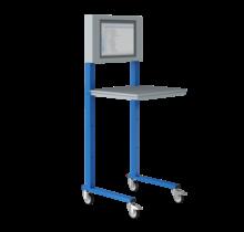 Open computerstand Industrieel blauw