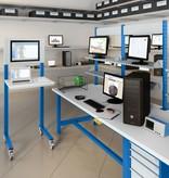 SalesBridges Open computerstand Industrieel blauw