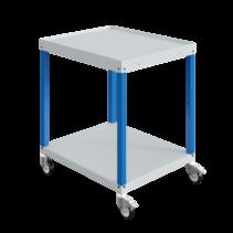 Chariot d'atelier CAR avec 2 ou 3 plateaux Bleu Industriel