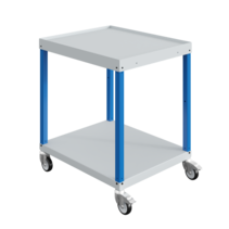 Workshop trolley CAR with 2 or 3  trays Industrial Blue