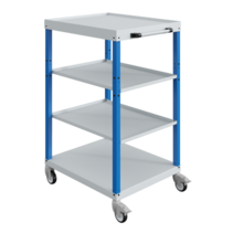 Workshop trolley CAR with trays 4 Industrial Blue