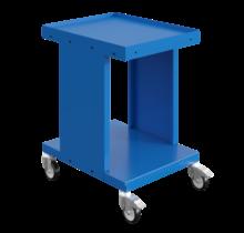 Werktrolley Werkplaatswagens Magazijnkar SV met 2 of 3 etages Industrieel Blauw