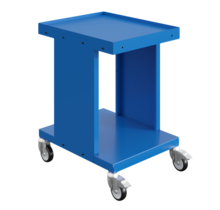 Worktrolley Warehouse Trolley SV with 2 or 3 levels Industrial Blue