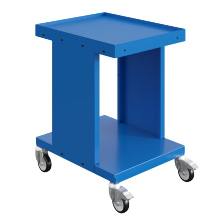 SalesBridges Chariot de travail Chariot d'entrepôt SV à 2 ou 3 étages Bleu Industriel